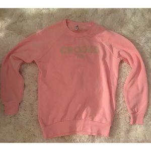 Crooks & Castles pink crewneck sweatshirt